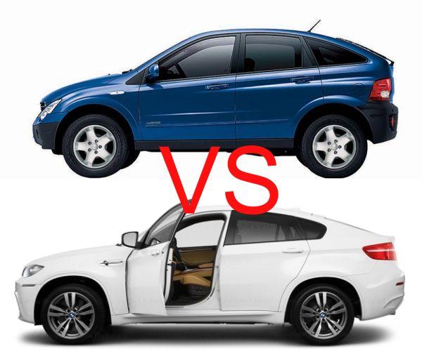 BMW X6 VS SsangYong  Actyon