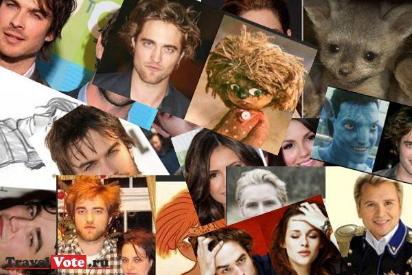Забавные сходства актеров, играющих вампиров и других знаменитостей.